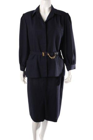 Delmod Vintage Kostüm dunkelblau