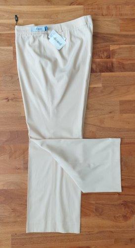 Delmod Pantalon en laine crème laine