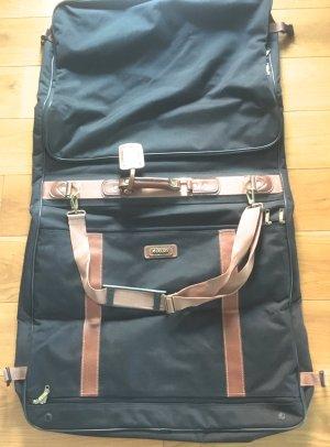 Suit Bag black-cognac-coloured nylon