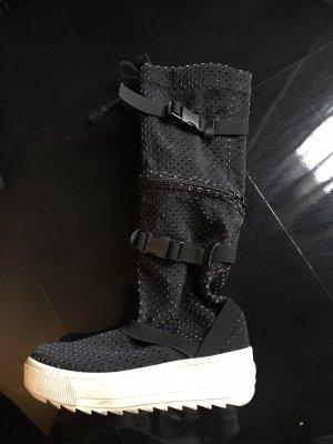 Demobaza Halfhoge laarzen zwart-wit