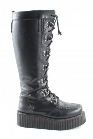 Demonia Plateau-Stiefel schwarz Casual-Look