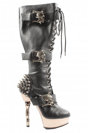 Demonia Lace-up Booties black casual look