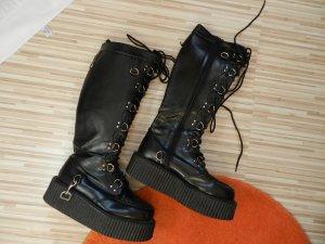 Demonia Gothic laarzen zwart Imitatie leer