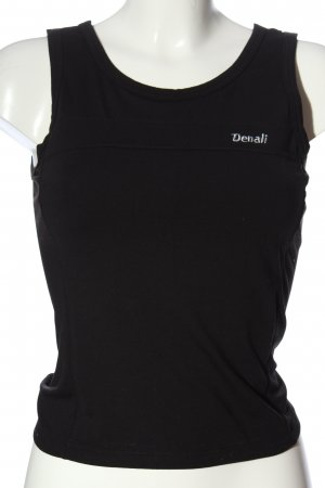 denali Camisoles black embroidered lettering casual look