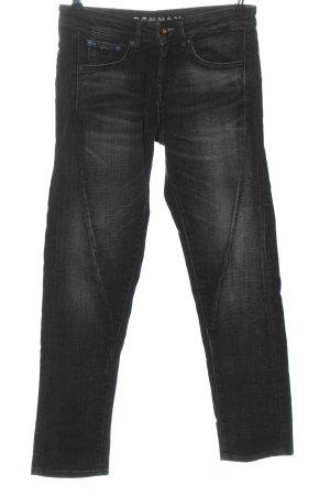 Denham Low-Rise Trousers black casual look