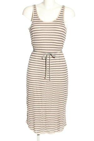 Denham Jerseykleid wollweiß-braun Streifenmuster Casual-Look