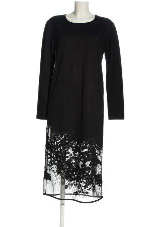 Denham Langarmkleid schwarz grafisches Muster Elegant
