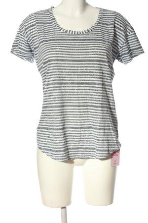 Denham Camisa de rayas gris claro-blanco look casual