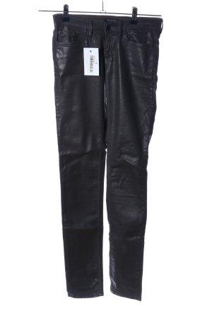 Denham Drainpipe Trousers black casual look