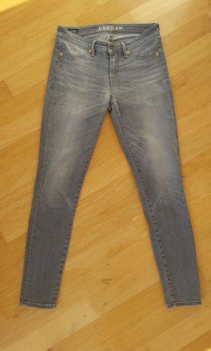Denham Jeans skinny grigio