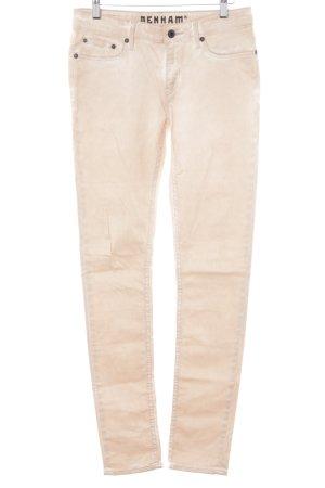 Denham Slim Jeans nude schlichter Stil