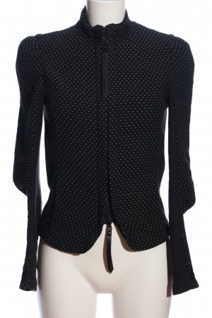 Denham Übergangsjacke schwarz-weiß Punktemuster Casual-Look