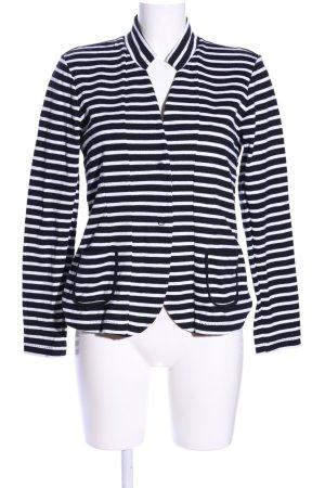 Denham Wolljacke schwarz-weiß Streifenmuster Casual-Look