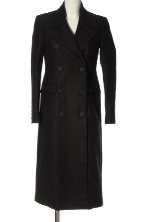 Denham Abrigo de lana negro look casual