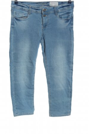 Denim 1982 Jeansy 3/4 niebieski W stylu casual