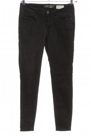 Denim 1982 Hoge taille broek zwart casual uitstraling
