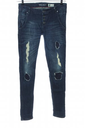 Denim 1982 Skinny Jeans blau Street-Fashion-Look