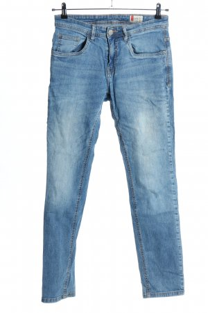 Denim 1982 Dopasowane jeansy niebieski W stylu casual
