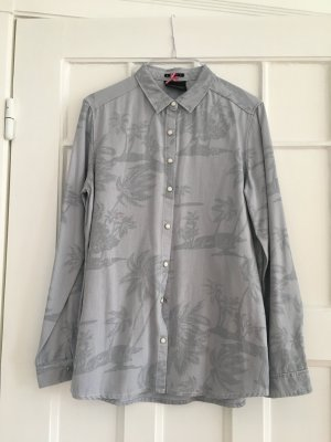 Denim Bluse Scotch & Soda Maison Scotch mit Palmbaume Palmtrees