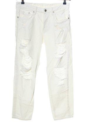 & DENIM Boyfriend jeans wit casual uitstraling