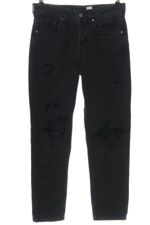 & DENIM Boyfriend jeans zwart casual uitstraling