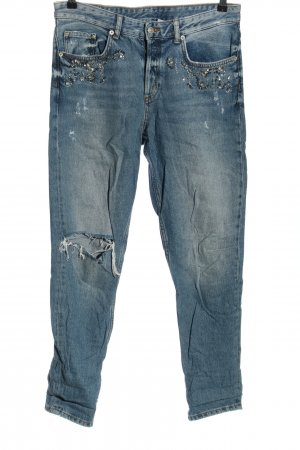 & DENIM Jeans boyfriend blu stile casual