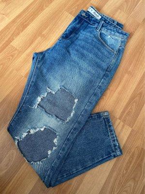 Denim & сo Jeans taille haute bleu acier