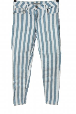 Denim Co. Jeans 7/8 bleu-blanc imprimé allover style décontracté