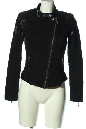 Denim Co. Biker Jacket black casual look