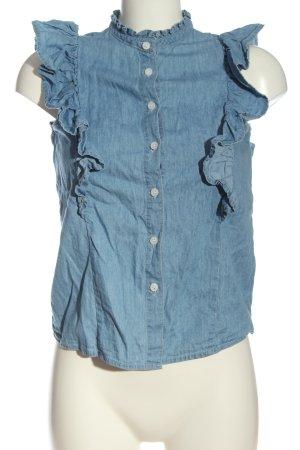 Denim Co. Blouse Top blue cotton