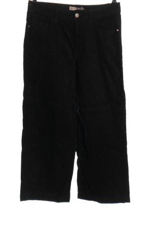 Denim Co. Pantalon en velours côtelé noir style décontracté