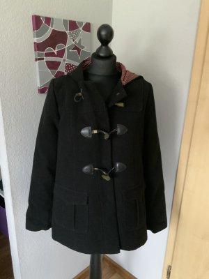 Denim Co Damen Duffle CAT Jacke mit Kapuze schwarz Größe S 36