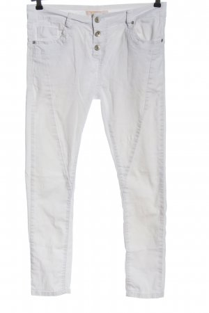 Denim Co. Five-Pocket Trousers white casual look