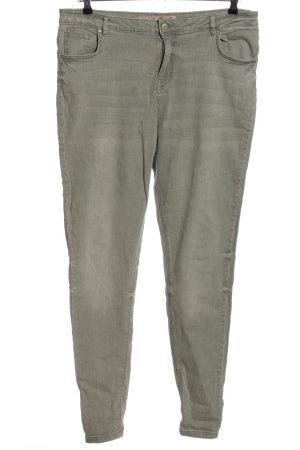 Denim Co. Pantalon cinq poches gris clair style décontracté