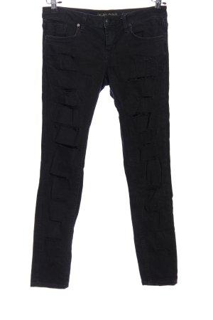 Denim Co. Five-Pocket-Hose schwarz Casual-Look