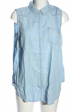 Denim Co. Hemd-Bluse blau Casual-Look