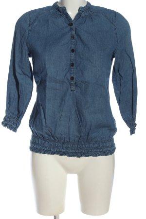 Denim Co. Blouse-chemisier bleu style décontracté