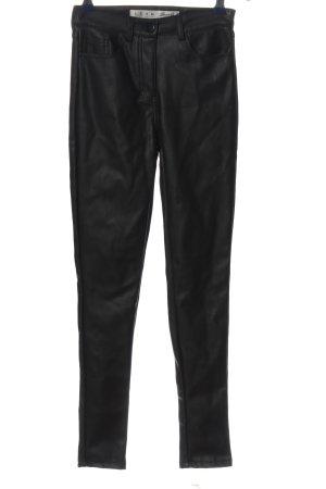 Denim Co. High-Waist Hose schwarz extravaganter Stil