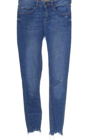 Denim Co. High Waist Jeans lilac-blue casual look