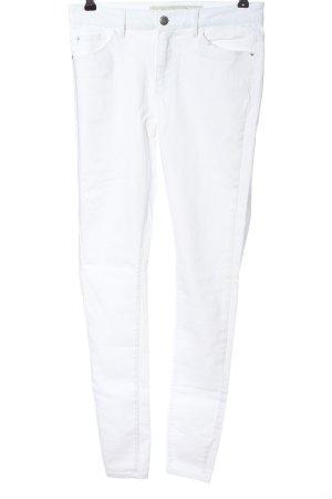 Denim Co. High Waist Jeans white casual look