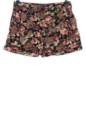 Denim Co. High-Waist-Shorts Blumenmuster Casual-Look