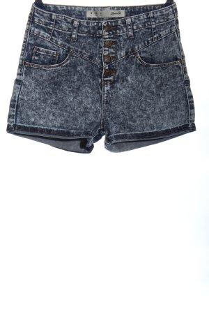 Denim Co. High-Waist-Shorts blau Casual-Look