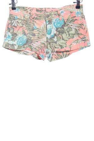 Denim Co. Hot Pants Blumenmuster Casual-Look