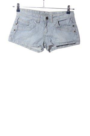 Denim Co. Hot Pants blau-weiß Streifenmuster Casual-Look