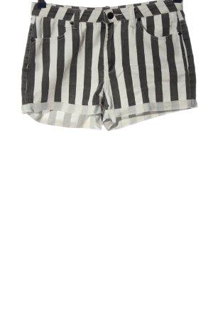 Denim Co. Hot Pants schwarz-weiß Allover-Druck Casual-Look