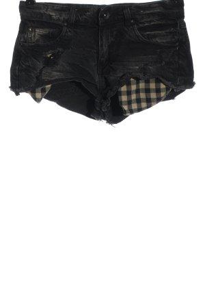 Denim Co. Hot pants nero stile casual