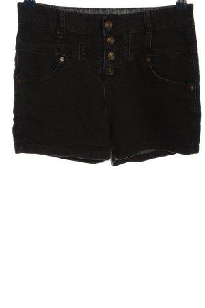 Denim Co. Hot Pants schwarz Casual-Look
