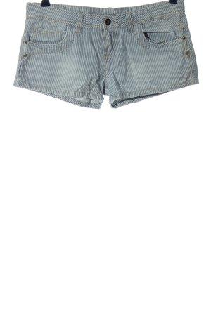 Denim Co. Hot Pants weiß-schwarz Streifenmuster Casual-Look