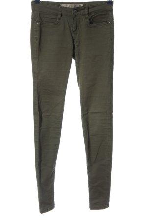 Denim Co. Low-Rise Trousers khaki casual look