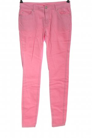 Denim Co. Low-Rise Trousers pink casual look